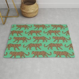 Kitty Parade - Classic on Jungle Green Rug