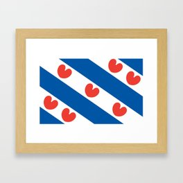 Flag of Friesland Framed Art Print