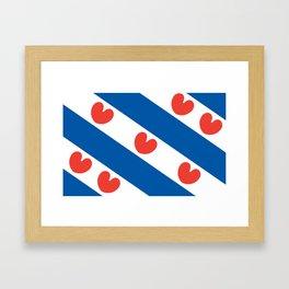 Flag of Friesland Framed Art Print