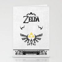 the legend of zelda Stationery Cards featuring Zelda legend - Hyrulian Emblem by Art & Be