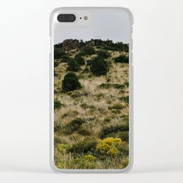 Hill of Green in Big Bend National Park, TX Clear iPhone Case