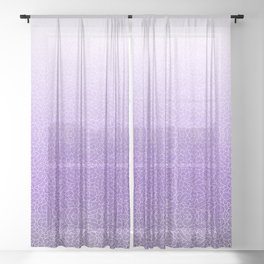 Faded purple and white swirls doodles Sheer Curtain