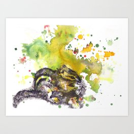 Chipmunk Color Splash Painting Art Print