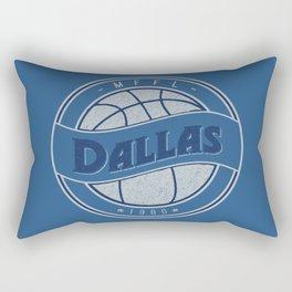 Dallas MFFL basketball royal blue vintage logo Rectangular Pillow