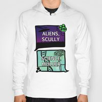 dana scully Hoodies featuring Aliens, Scully by raynall