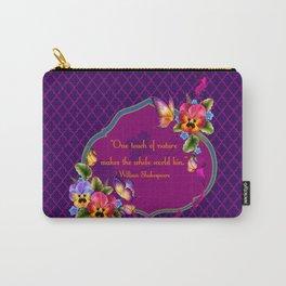 Arabian Quatrefoil Pansies Carry-All Pouch