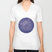 moon phases V-neck T-shirts featuring Moon Phases by Cina Catteau