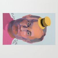 putin Area & Throw Rugs featuring Putin on the Ritz by Kervin