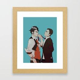 Up the Company Ladder Framed Art Print