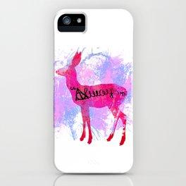 Pink Deer iPhone Case