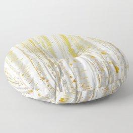 Gold Birch Forest Floor Pillow