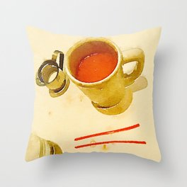 Afternoon Coffee Throw Pillow