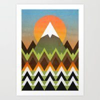 camp Art Prints featuring Camp by Elisabeth Fredriksson