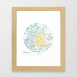 Houston Framed Art Print