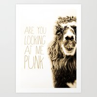 Are You Looking At Me Punk Art Print
