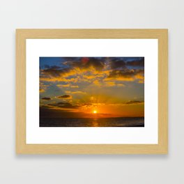 Hythe Sunset Framed Art Print