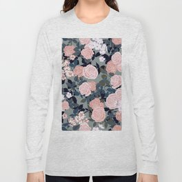 90s vibe boho roses Long Sleeve T-shirt