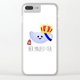 Her Majest-tea Clear iPhone Case