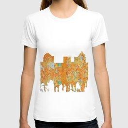 Greensboro, NC Skyline - Rust T-shirt