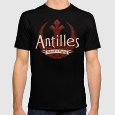 Antilles School of Flying MEDIUM Mens Fitted Tee Black