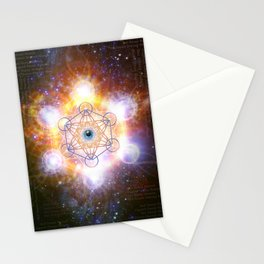 """Aad Guray Nameh""- Merkaba-  Protective energy of the Universe Stationery Cards"