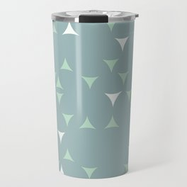 Minty_ Blue_Triangles Travel Mug