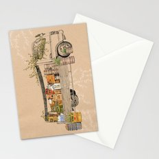 Green Invasion Stationery Cards