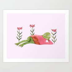 Humble Knit Frog Art Print