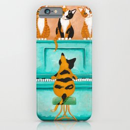 Piano Cats iPhone Case