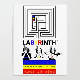 SSHNE LABYRINTH: ASL ,MORSE, BRAILLE on BANNERS Poster