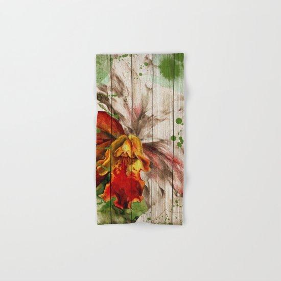 Spring on Wood 02 Hand & Bath Towel