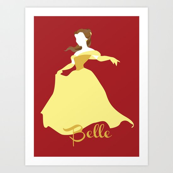 Belle from Beauty and the Beast Disney Art Print