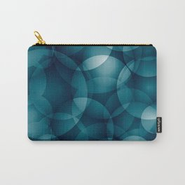 Dark intersecting heavenly translucent circles in bright colors with the blue glow of the ocean. Carry-All Pouch