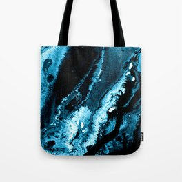 Dark Teal Abstract 171004T Tote Bag