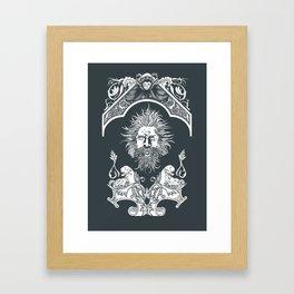 White fantasy Framed Art Print