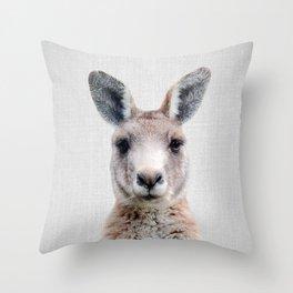 Kangaroo - Colorful Throw Pillow