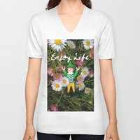 percy jackson V-neck T-shirts featuring Percy - Enjoy Life by Rich Mitch Pics