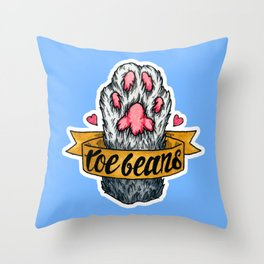 Toe Beans Throw Pillow