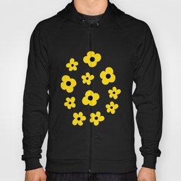 White Yellow Spring Flower Pattern Hoody