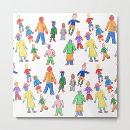 Multicolor People Multiples Metal Print