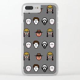 Horror Print Clear iPhone Case