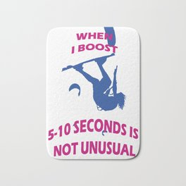 When I Boost 5-10 Seconds Is Not Unusual Neon Pink and Blue Bath Mat