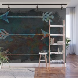 Arrow minded with texture Wall Mural