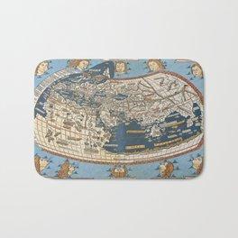 World map 1492 Bath Mat