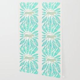 Jaguar – Turquoise & Mint Palette Wallpaper