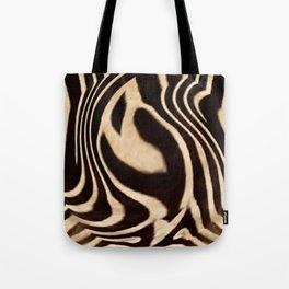Zebra Fingerprints Tote Bag