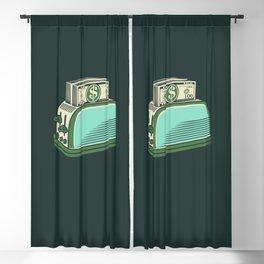 Money Toaster Blackout Curtain