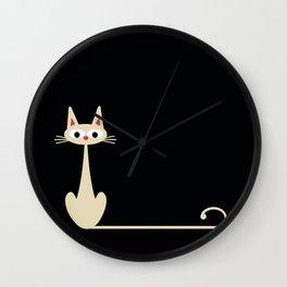 white long tail Wall Clock