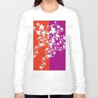 climbing Long Sleeve T-shirts featuring Climbing Flowers by Mari Biro