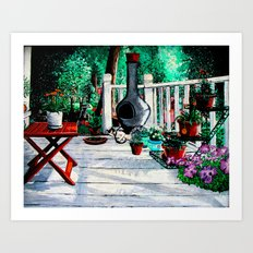 Back Porch Garden Art Print